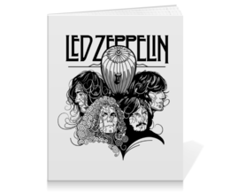 """Тетрадь на клею """"Led Zeppelin"""" - музыка, рок, группы, rock and roll, led zeppelin"""