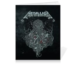 """Тетрадь на клею """"Metallica"""" - metallica, металлика, метал, рок, группы"""
