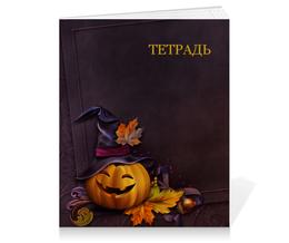 """Тетрадь на клею """"Хэллоуин"""" - хэллоуин, тыква"""