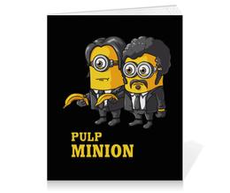 "Тетрадь на клею ""Pulp Minion"" - миньоны, криминальное чтиво, миньон, minion, pulp fiction"