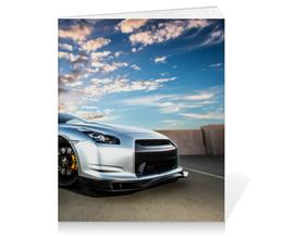 "Тетрадь на клею ""Nissan GTR"" - япония, japan, nissan, ниссан"