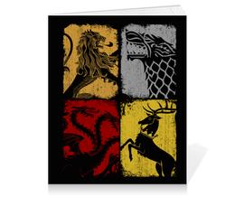 """Тетрадь на клею """"Игра престолов"""" - сериалы, фэнтези, игра престолов, game of thrones"""