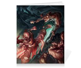 "Тетрадь на клею ""Diablo III"" - blizzard, диабло, близзард, монахи, monks"