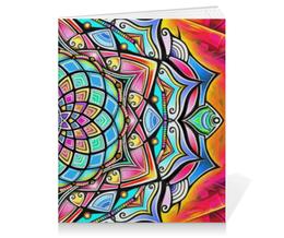 """Тетрадь на клею """"Mandala HD2"""" - узор, ретро, классика, этно, симметрия"""