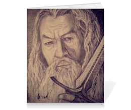 "Тетрадь на клею ""гендальф"" - властелин колец, хоббит, gandalf, lord of the rings, гендальф"