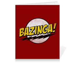"Тетрадь на клею ""Bazinga!"" - bazinga, теория большого взрыва, шелдон купер, sheldon, big bang theory"