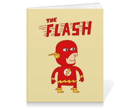 """Тетрадь на клею """"Флэш """" - flash, прикольные, комиксы, супергерои, флэш"""
