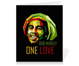 "Тетрадь на клею ""Боб Марли"" - регги, боб марли, bob marley, reggae, rastafari"