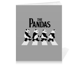 "Тетрадь на клею ""The Pandas. Панды"" - beatles, панда, the beatles, панды, abbey road"