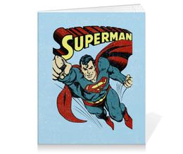 """Тетрадь на клею """"Супермен"""" - супермен, комиксы, superman, супергерои"""