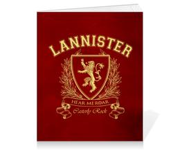 """Тетрадь на клею """"Игра Престолов. Дом Ланнистеров"""" - игра престолов, game of thrones, ланнистеры, house lannister, дом ланнистеров"""