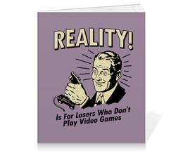 """Тетрадь на клею """"Геймер"""" - прикольные, компьютерные игры, old school, video games, для геймеров"""