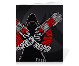"Тетрадь на клею ""Жнец "" - blizzard, близзард, overwatch, reaper, овервотч"