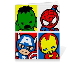 """Тетрадь на клею """"Мстители"""" - арт, комиксы, супергерои, pop art, мстители"""