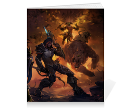 "Тетрадь на клею ""Diablo III"" - blizzard, диабло, близзард, варвар, barbarian"