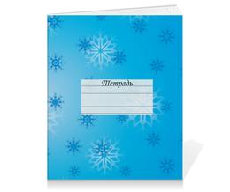 """Тетрадь на клею """"Снежинка"""" - праздник, новый год, зима, снег, снежинка"""