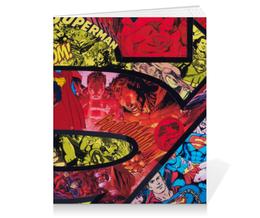 "Тетрадь на клею ""Супермен (Superman)"" - комиксы, superman, супермэн, dc comics, супс"