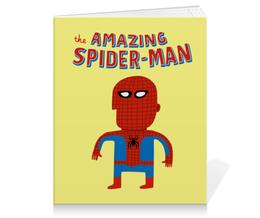 """Тетрадь на клею """"Человек-паук"""" - прикольные, комиксы, супергерои, spider man, человек паук"""