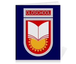 "Тетрадь на клею ""Oldschool"" - ссср, олдскул, эмблема, старая школа, образование"