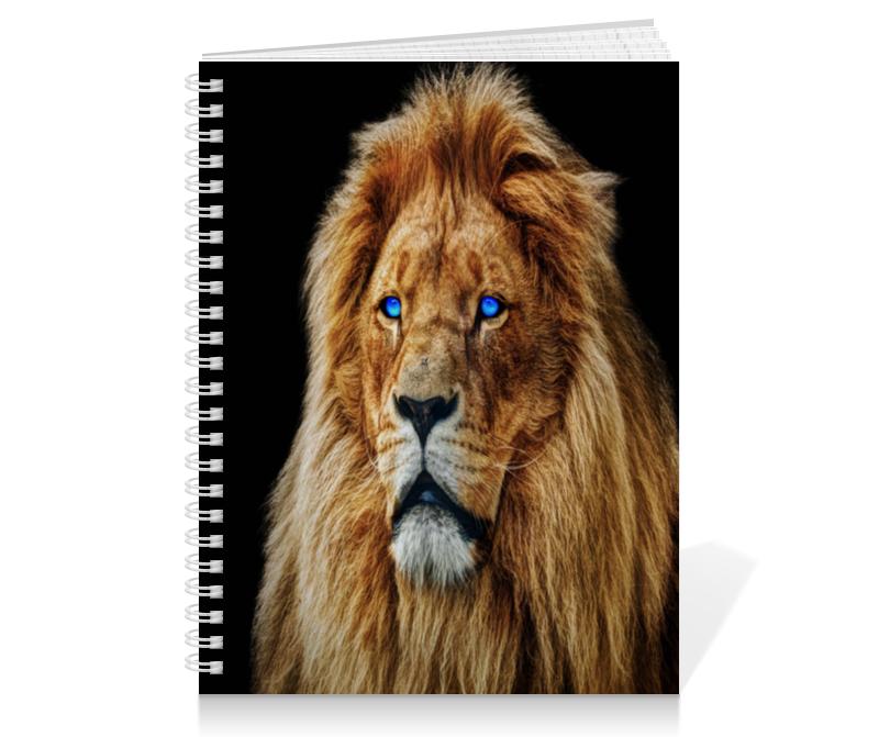 Тетрадь на пружине Printio Голубоглазый лев летящий лев цены на товар