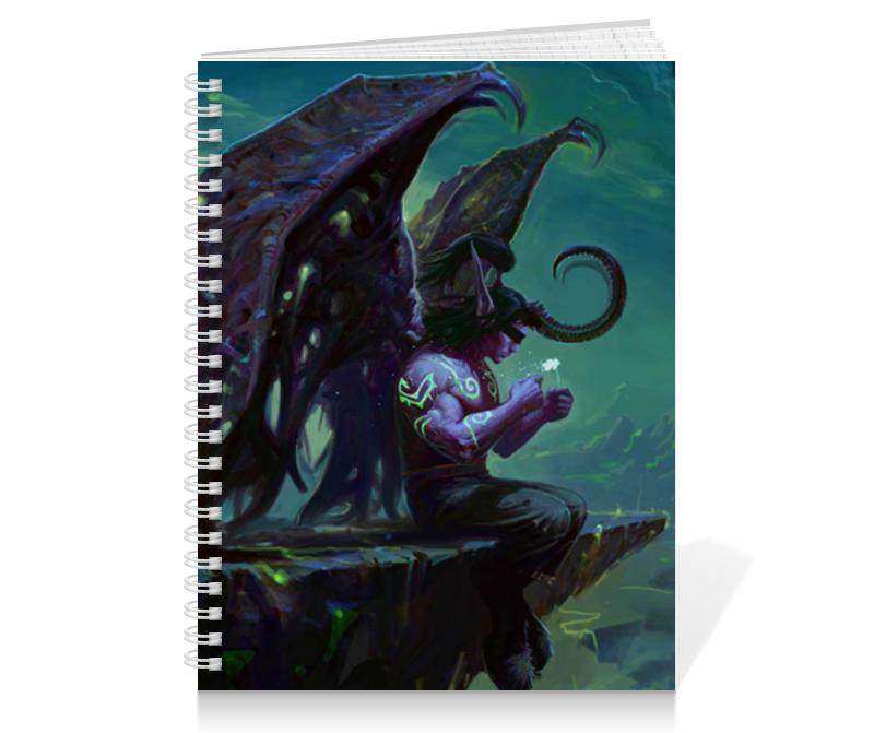 Тетрадь на пружине Printio Warcraft collection: illidan эспадрильи zenden collection zenden collection ze012agpre18