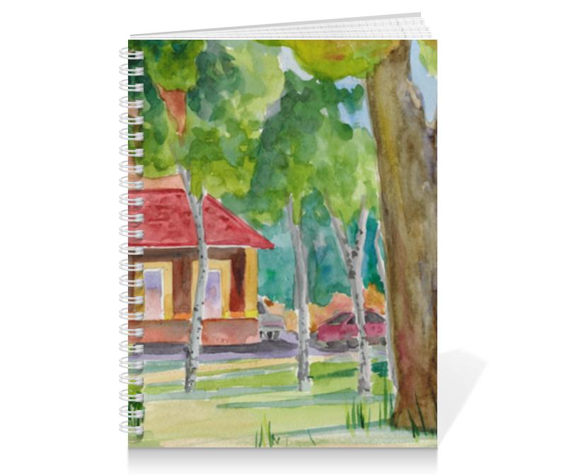 Тетрадь на пружине Printio дом, серия акварель 2015 тетрадь на скрепке printio тетрадь пейзаж из серии акварель 2015