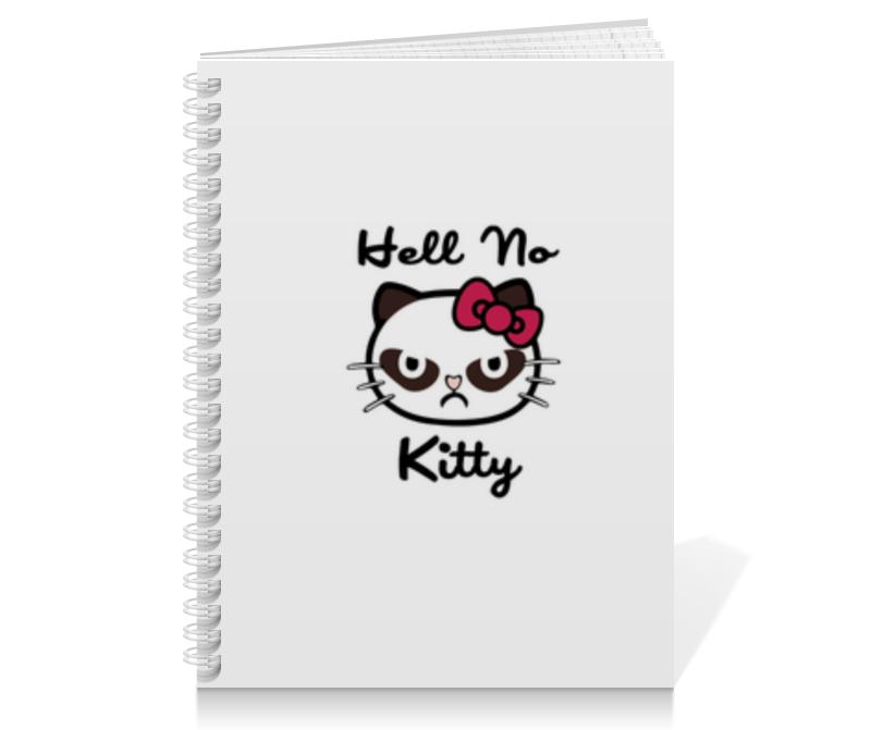Тетрадь на пружине Printio Hell no kitty тетрадь на пружине printio hello kitty с искрами