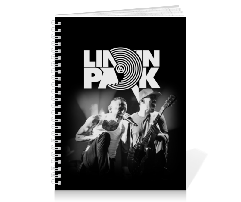 Тетрадь на пружине Printio Linkin park free shipping 10pcs l4976d