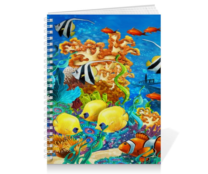 Тетрадь на пружине Printio Морской мир разнообразный мир растений