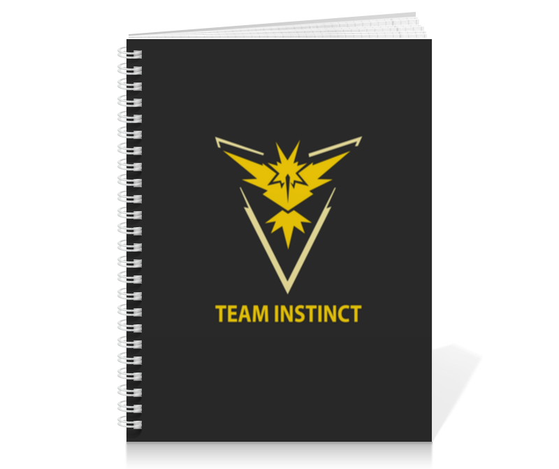 Тетрадь на пружине Printio Team instinct тетрадь на пружине printio леди баг и супер кот