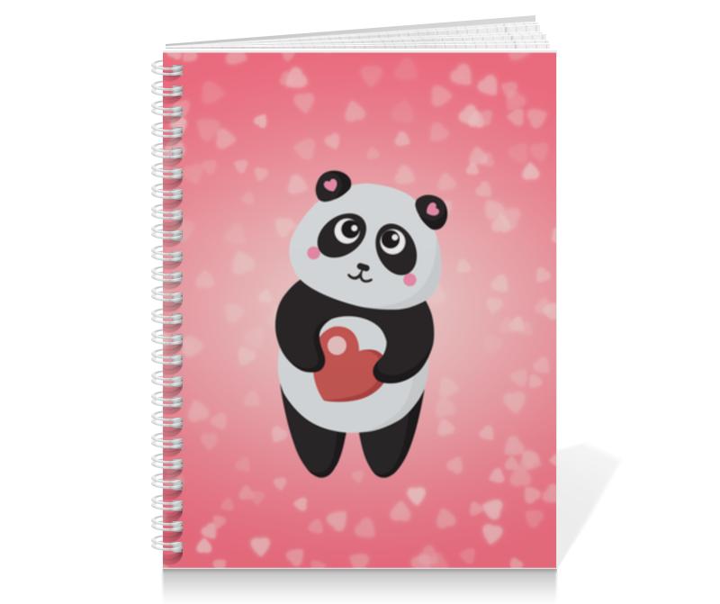 Printio Панда с сердечком блокнот printio панда с сердечком