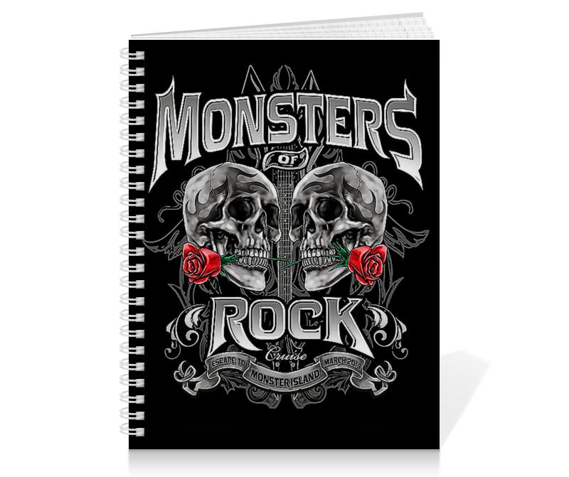 Тетрадь на пружине Printio Музыка. monsters rock