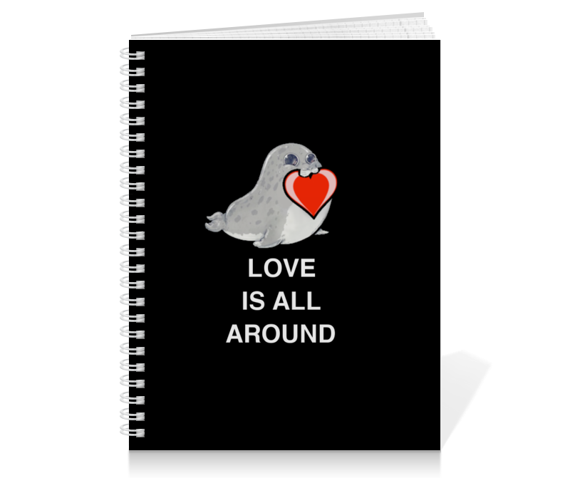 Printio Love. тюлень. любовь. printio love тюлень любовь