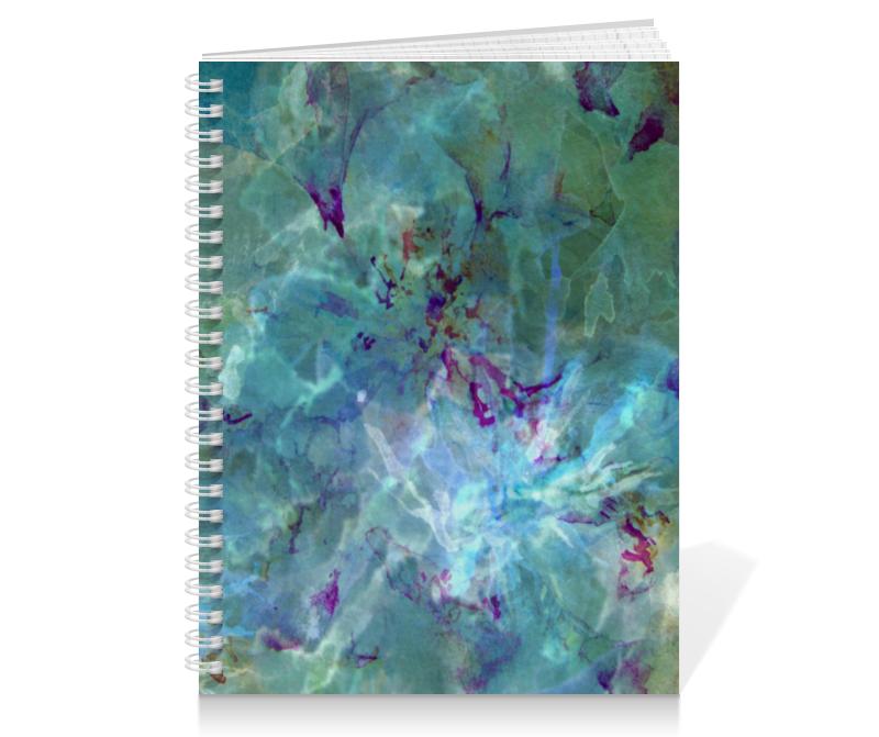 Тетрадь на пружине Printio Солнце,вода,цветы. абстракция коробка для кружек printio солнце вода цветы абстракция