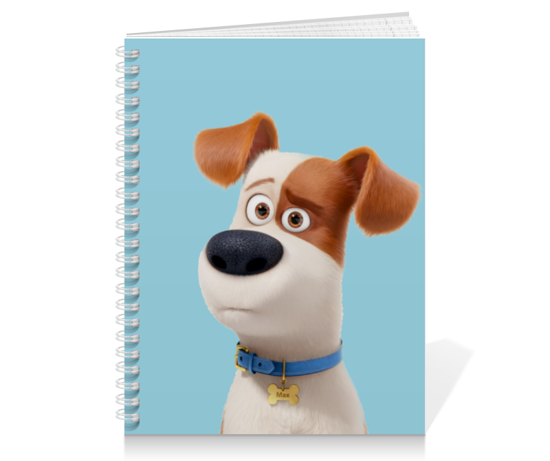 Тетрадь на пружине Printio Макс (max) тетрадь на скрепке printio тайная жизнь домашних животных