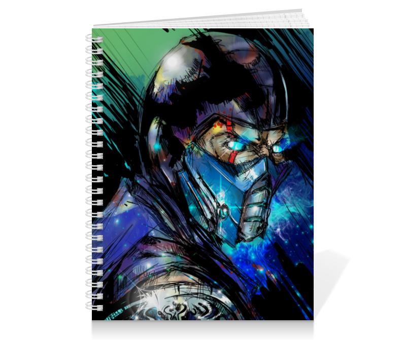 Тетрадь на пружине Printio Mortal kombat x (sub-zero) обложка для паспорта printio обложка mortal kombat x sub zero