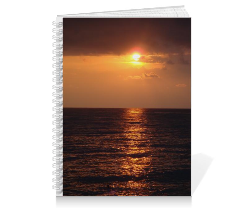 Тетрадь на пружине Printio Ночное море как путевку на море
