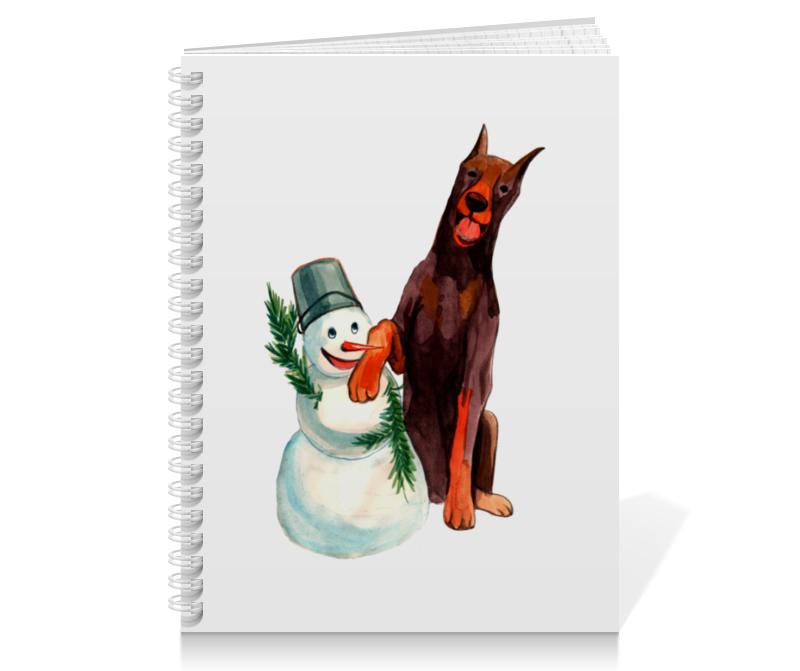Тетрадь на пружине Printio Забавная акварельная собака, символ 2018 года футболка классическая printio акварельная новогодняя забавная собака