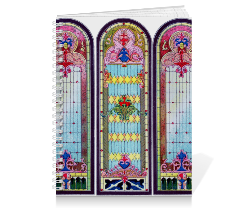 Тетрадь на пружине Printio Витражи собора черников в витражи