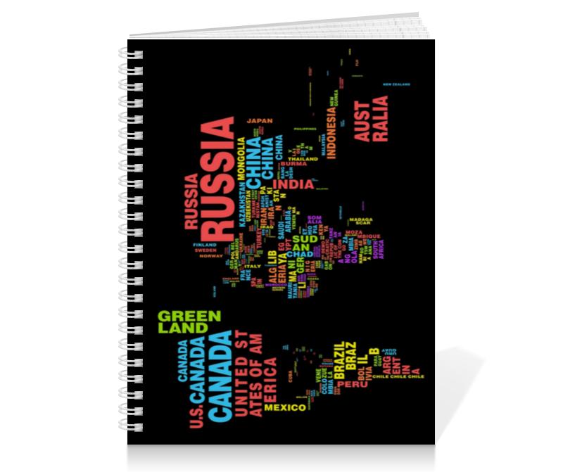 Тетрадь на пружине Printio Для географии тетрадь на пружине printio тетрадь аниме
