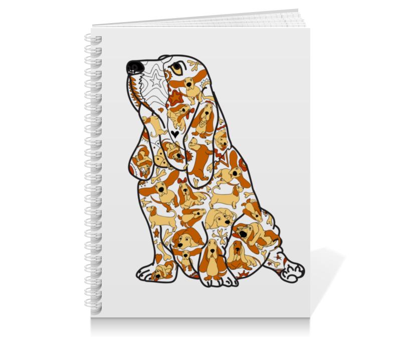 Тетрадь на пружине Printio Смешная собака бассет купить щенкак в донецке бассет