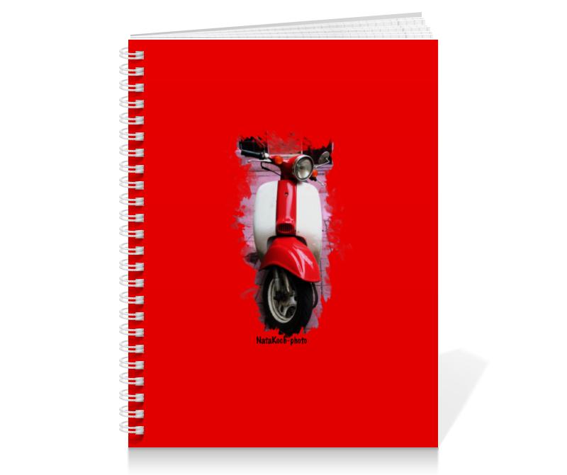 Тетрадь на пружине Printio Скутер скутер