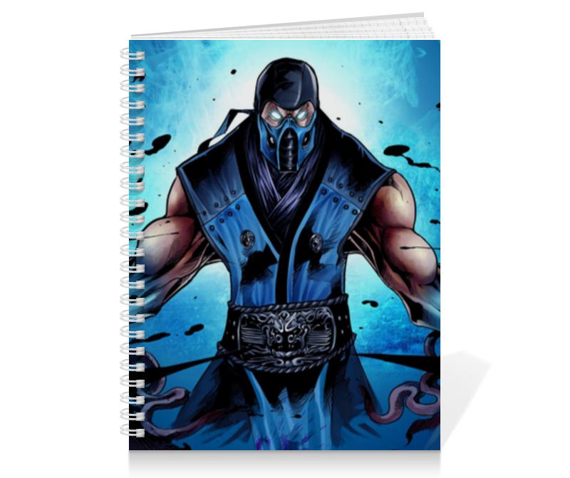 Тетрадь на пружине Printio Mortal kombat x (sub-zero) видеоигра для ps4 mortal kombat x special edition
