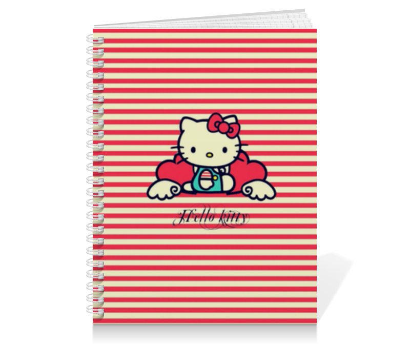 Тетрадь на пружине Printio Ретро (hello kitty) тетрадь на пружине printio hello kitty с искрами