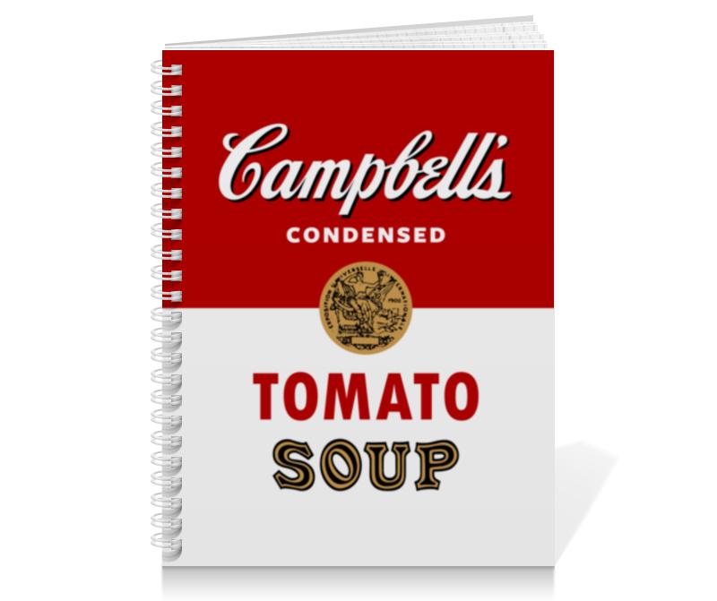 Тетрадь на пружине Printio Суп кэмпбелл суп том кха
