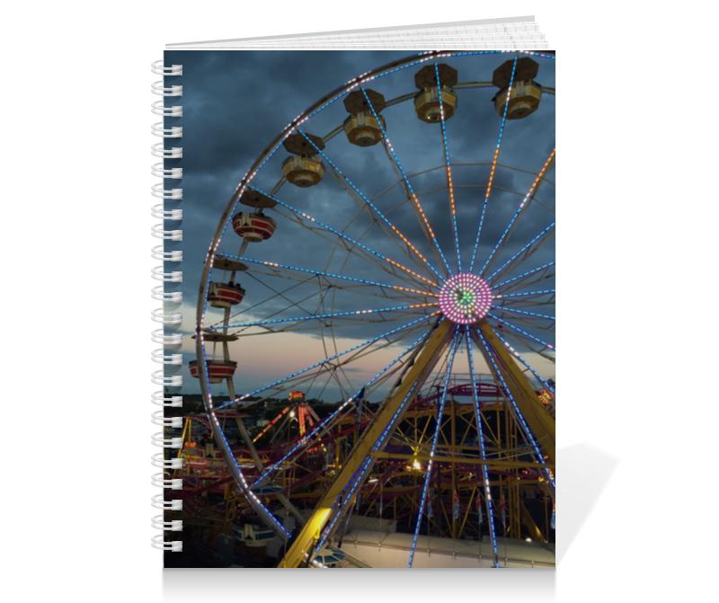 Тетрадь на пружине Printio Колесо обозрения декорация светящаяся с музыкой колесо обозрения 21х21х26см