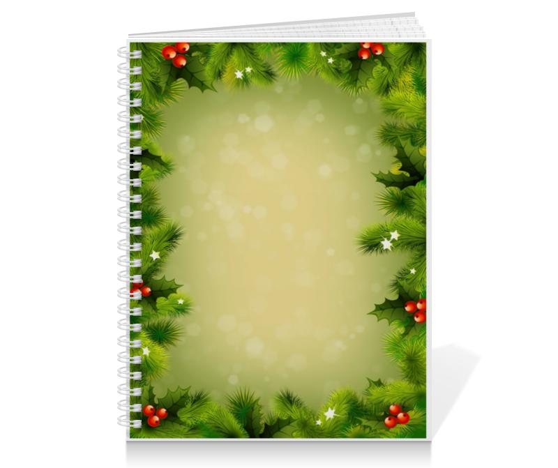 Тетрадь на пружине Printio Для новогодних подарков