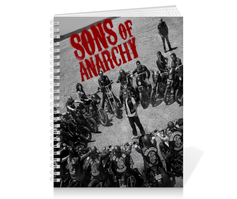 Тетрадь на пружине Printio Сыны анархии / sons of anarchy
