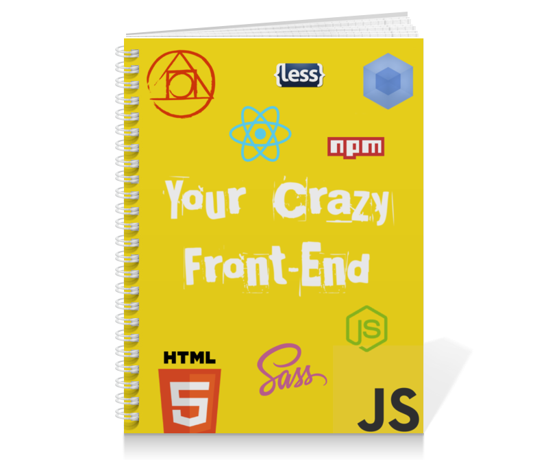 Тетрадь на пружине Printio Your crazy front-end тетрадь на пружине printio tell me your wish