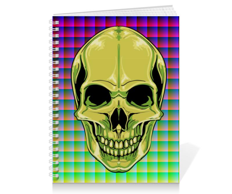 Тетрадь на пружине Printio Skull цена
